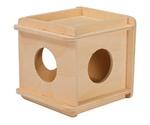 Домик Для Грызунов Деревянный Кубик Малый 10*10*h11,5см Rp8521