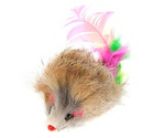 Игрушка Для Кошек BraVa (Брава) Мышь Мех с Перьями 5см 4364542
